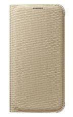 Etui Samsung Flip Wallet Złote do Galaxy S6 EF-WG920BFEGWW