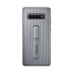 Etui Samsung Protective Standing Cover Srebrny do Galaxy S10+ (EF-RG975CSEGWW)
