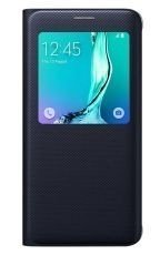 Etui Samsung S View Cover Czarne  do Galaxy S6 edge+ EF-CG928PBEGWW