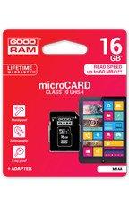 Goodram Karta pamięci microSDHC 16GB CL10 UHS 1 z adapterem