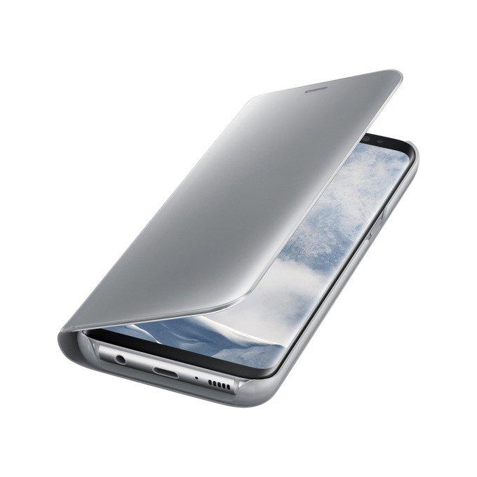 Etui Clear View Standing Cover do Galaxy S8+ Srebrne (EF-ZG955CSEGWW)