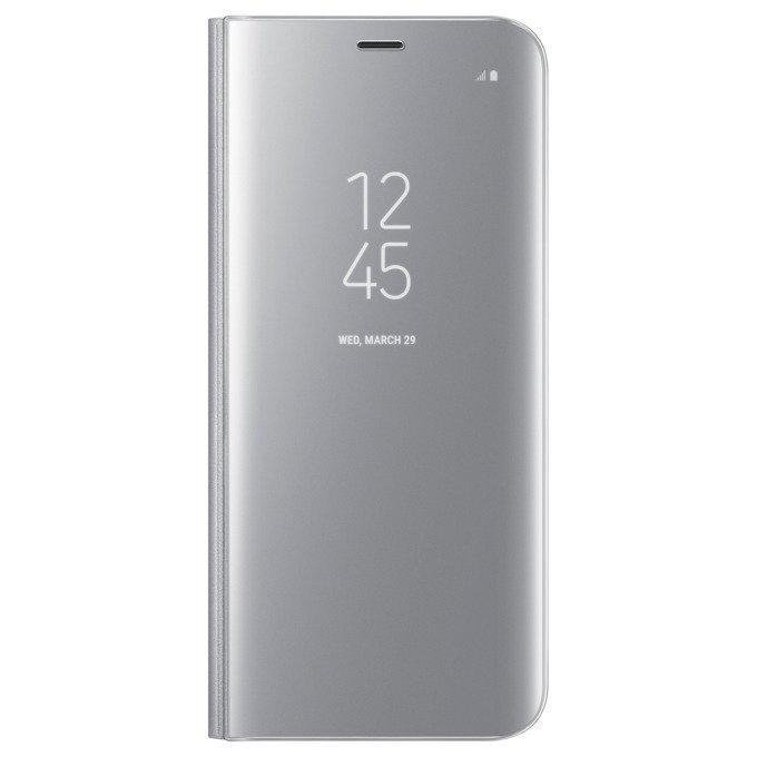 Etui Clear View cover do Galaxy S8 Srebrne (EF-ZG950CSEGWW)