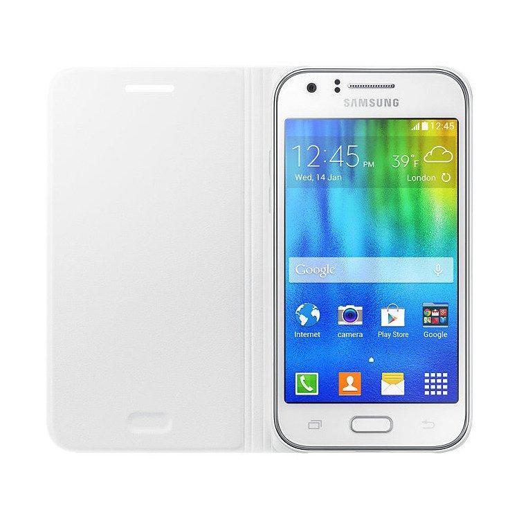 Etui Flip Cover Białe do Samsung Galaxy J1 (EF-FJ100BWEGWW)