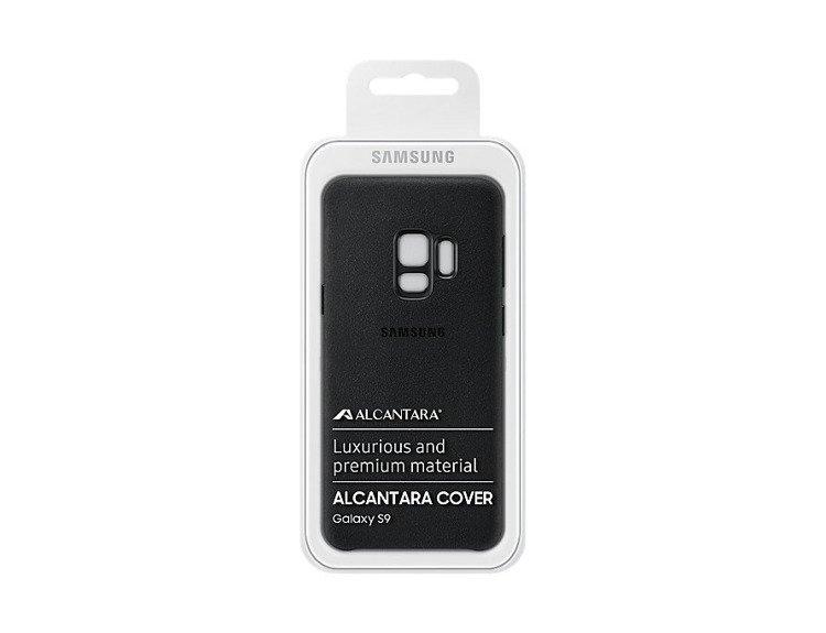 Etui Samsung Alcantara Cover do Galaxy S9 Czarne EF-XG960ABEGWW