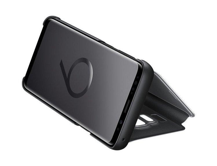 Etui Samsung Clear View Standing Cover do Galaxy S9 Czarne EF-ZG960CBEGWW