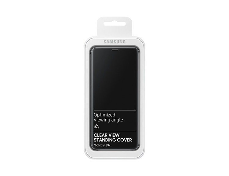 Etui Samsung Clear View Standing Cover do Galaxy S9+ Czarne EF-ZG965CBEGWW
