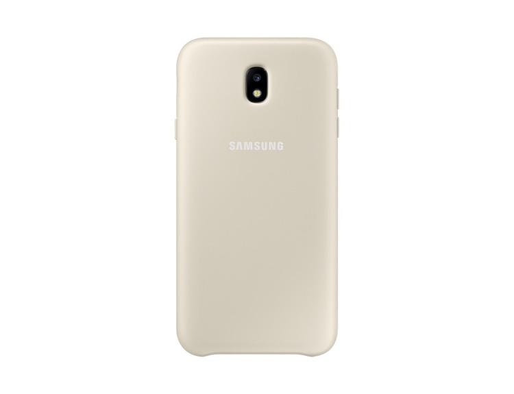 Etui Samsung Dual Layer Cover Złote do Galaxy J7 (2017) (EF-PJ730CFEGWW)