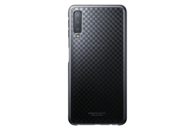 Etui Samsung Gradation Cover Czarne do Galaxy A7 (2018) EE-AA750CBEGWW
