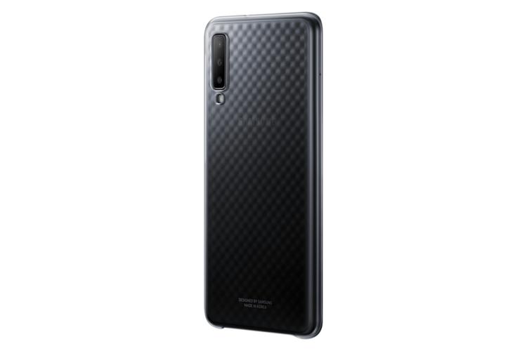 Etui Samsung Gradation Cover Czarne do Galaxy A7 (2018) EE-AA750CBEGWW