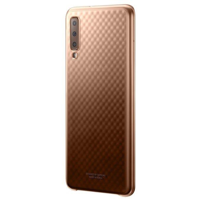Etui Samsung Gradation Cover Złote do Galaxy A7 (2018) (EF-AA750CFEGWW)