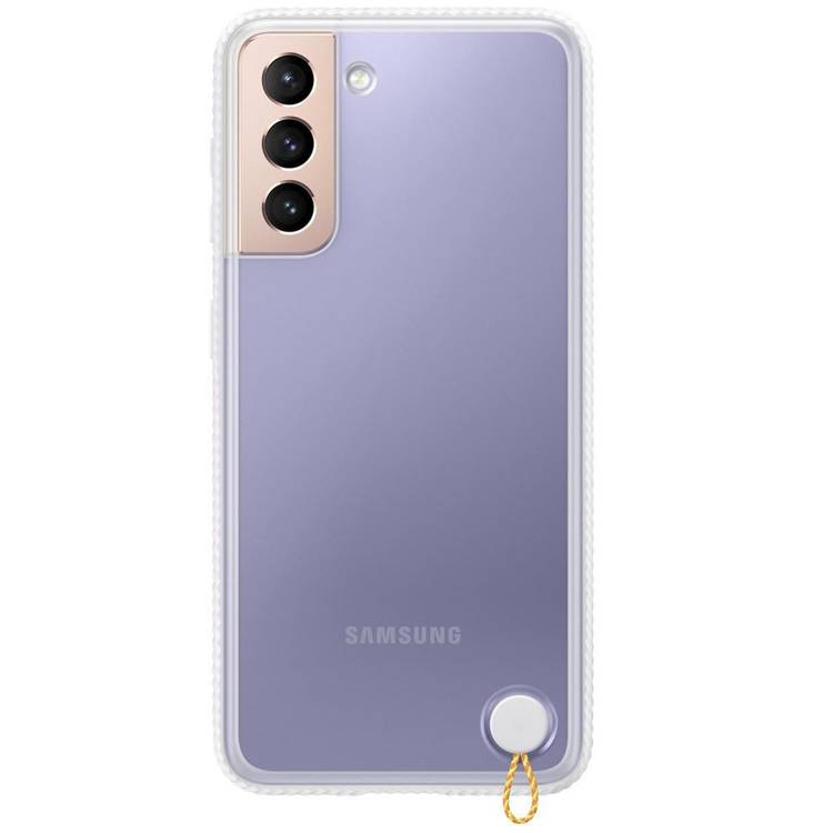 Etui Samsung Hard-Cover Clear Protective Białe do Galaxy S21 (EF-GG991CWEGWW)