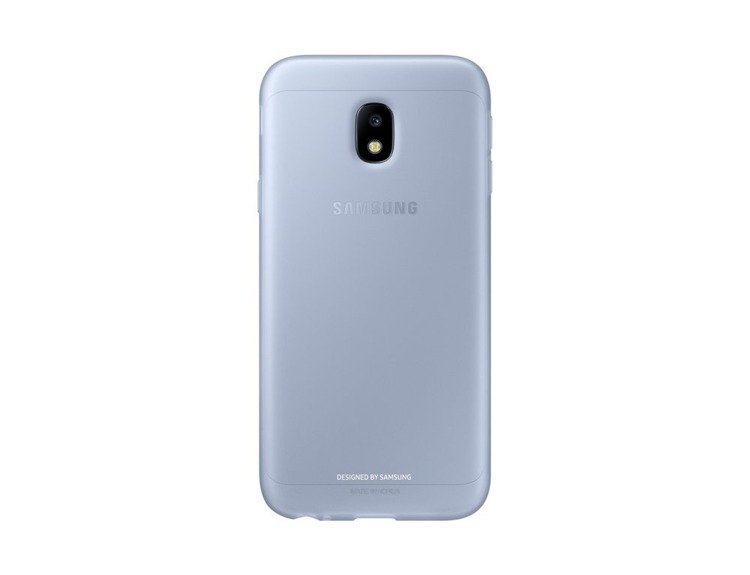 Etui Samsung Jelly Cover Niebieskie do Galaxy J3 (2017) (EF-AJ330TLEGWW)