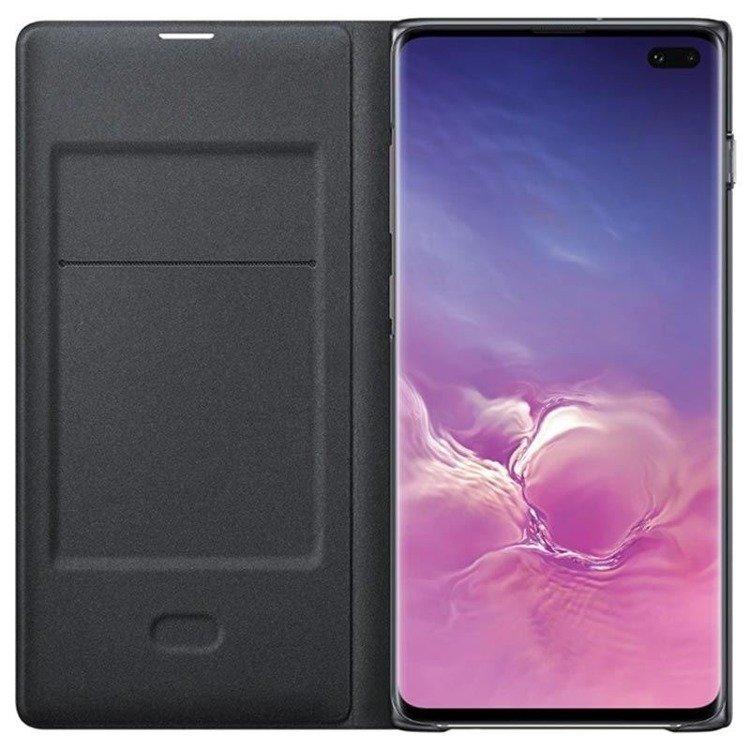 Etui Samsung LED View Cover Czarny do Galaxy S10+ (EF-NG975PBEGWW)
