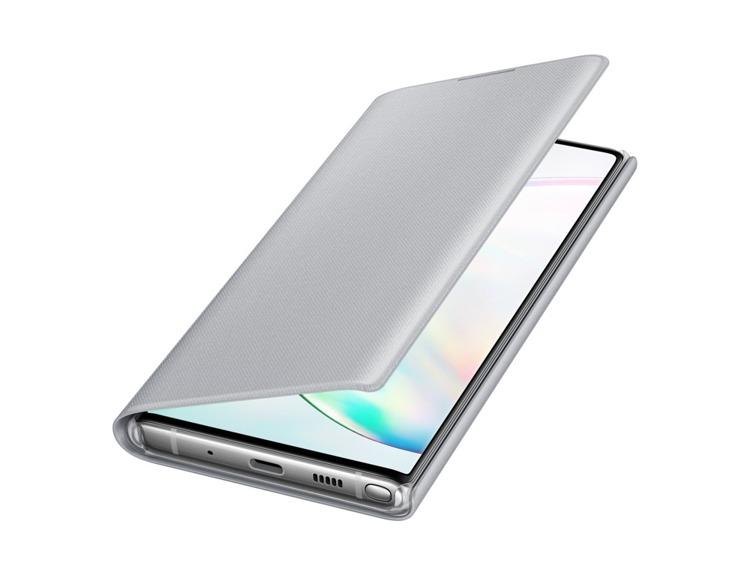 Etui Samsung LED View Cover Srebrny do Galaxy Note 10 (EF-NN970PSEGWW)