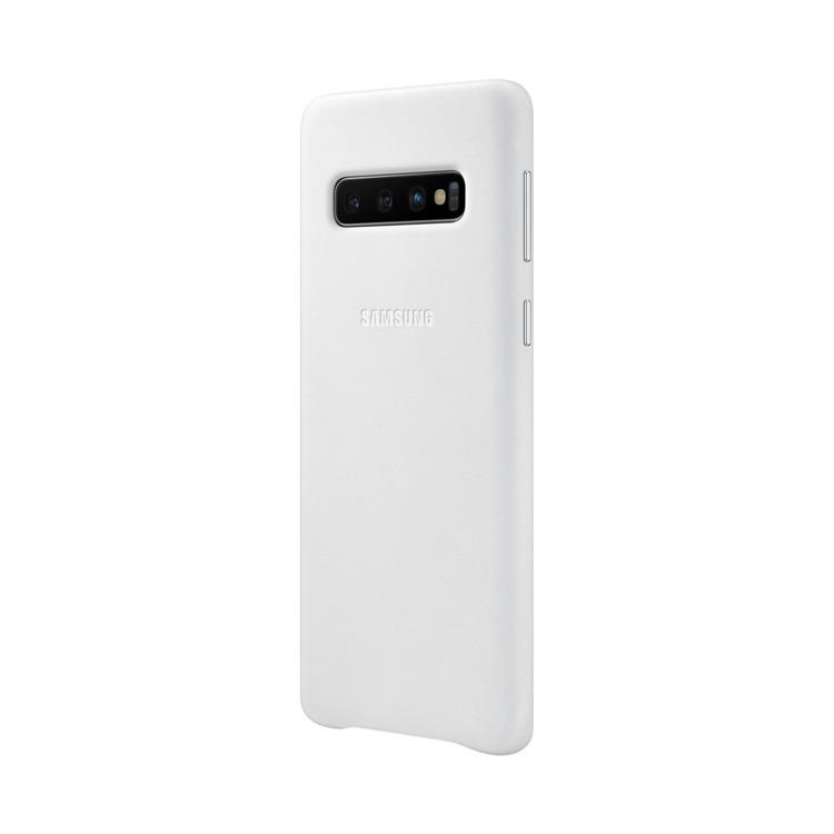 Etui Samsung Leather Cover Biały do Galaxy S10 (EF-VG973LWEGWW)