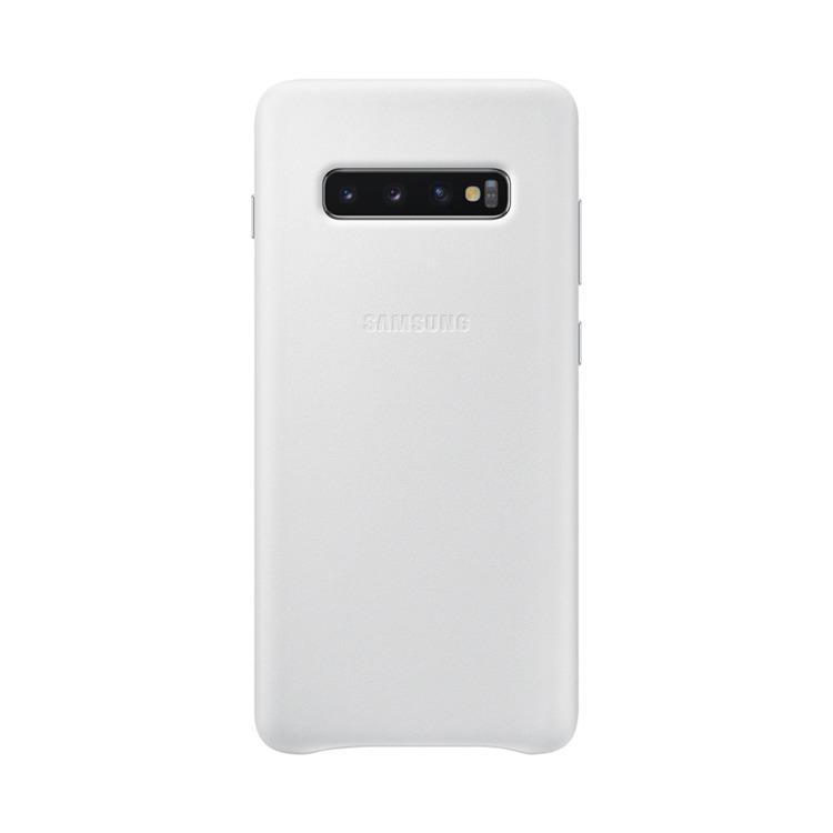 Etui Samsung Leather Cover Biały do Galaxy S10+ (EF-VG975LWEGWW)