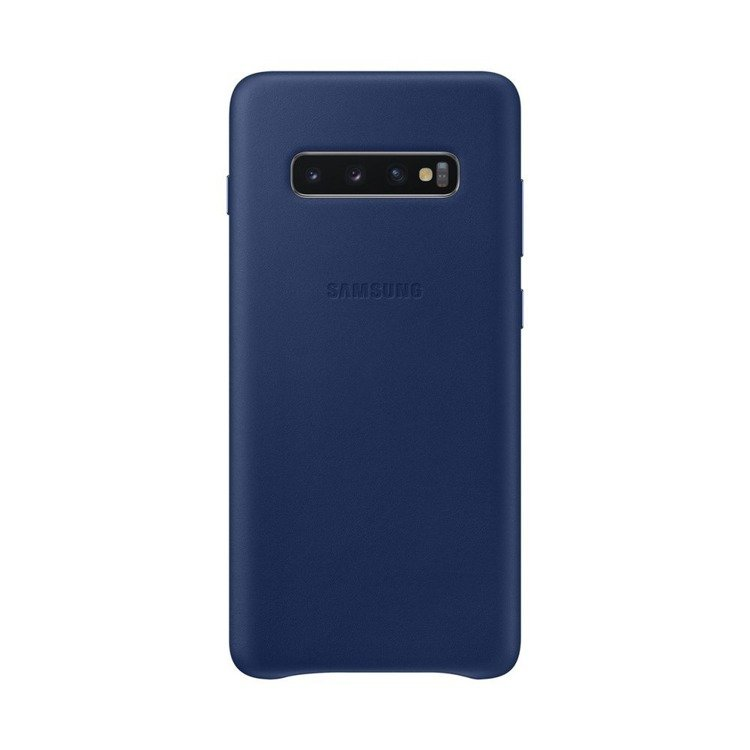 Etui Samsung Leather Cover Niebieski do Galaxy S10+ (EF-VG975LNEGWW)