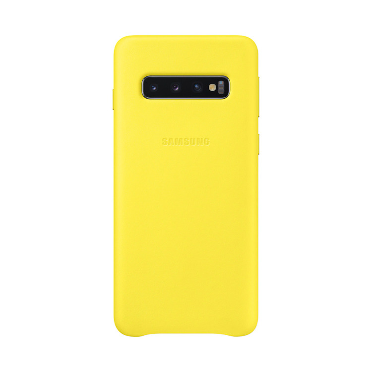 Etui Samsung Leather Cover Żółty do Galaxy S10 (EF-VG973LYEGWW)