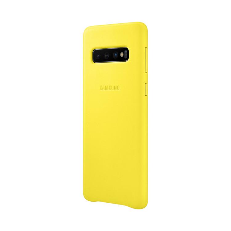 Etui Samsung Leather Cover Żółty do Galaxy S10 (EF-VG973LYEGWW)