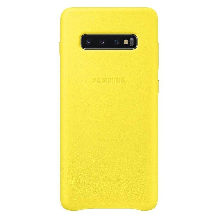 Etui Samsung Leather Cover Żółty do Galaxy S10+ (EF-VG975LYEGWW)
