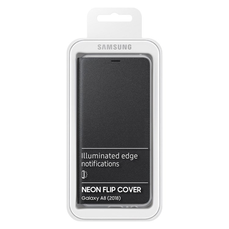 Etui Samsung Neon Flip Cover do Galaxy A8 2018 Czarne