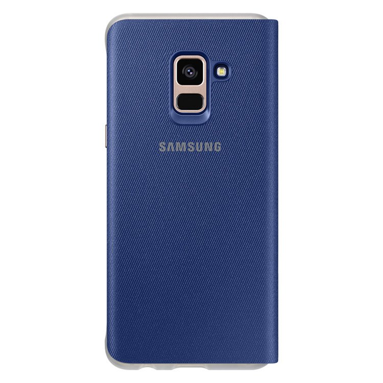 Etui Samsung Neon Flip Cover do Galaxy A8 2018 Niebieskie