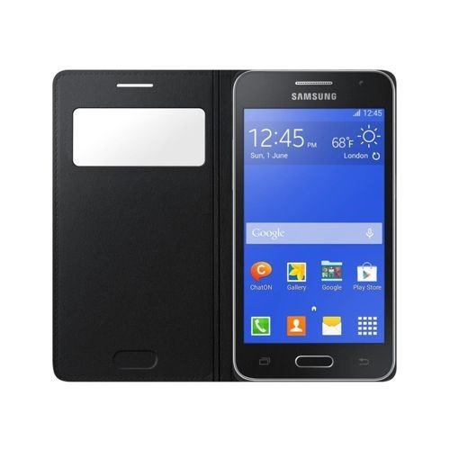 Etui Samsung S View Cover Czarne do Galaxy Core 2 EF-CG355BBEGWW