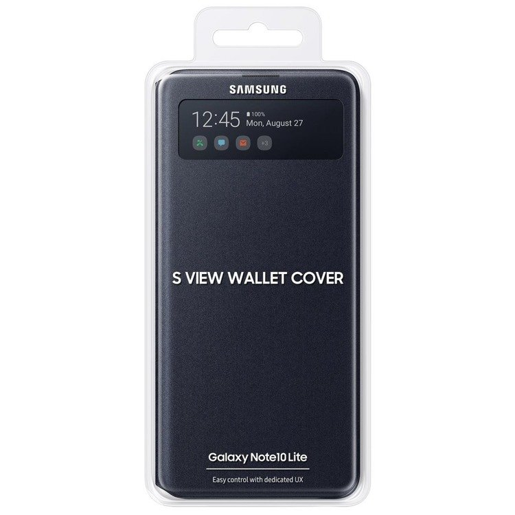 Etui Samsung S View Wallet Cover Czarne do Galaxy Note 10 Lite (EF-EN770PBEGEU)