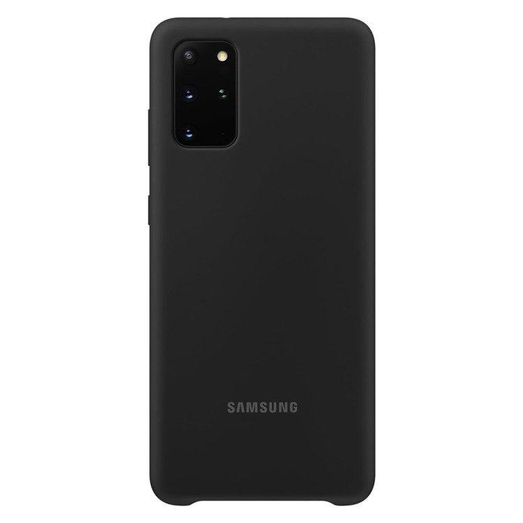 Etui Samsung Silicone Cover Czarny do Galaxy S20+ (EF-PG985TBEGEU)