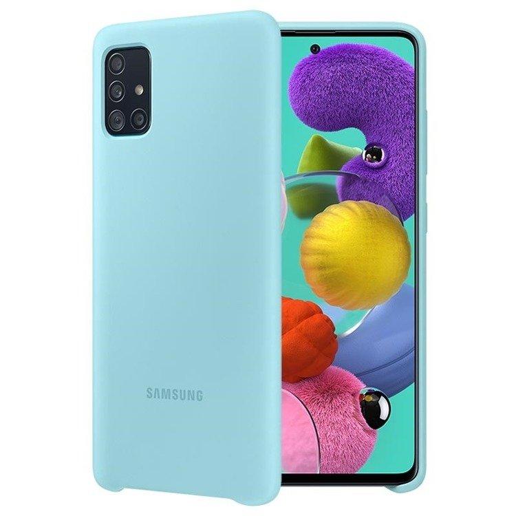 Etui Samsung Silicone Cover Niebieski do Galaxy A51 (EF-PA515TLEGEU)