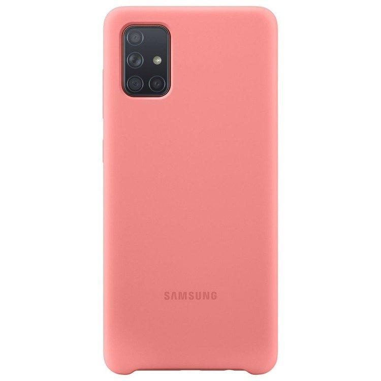 Etui Samsung Silicone Cover Różowy do Galaxy A71 (EF-PA715TPEGEU)