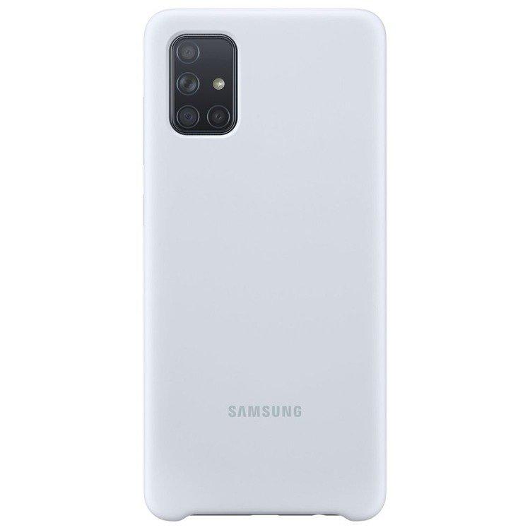 Etui Samsung Silicone Cover Silver do Galaxy A71 (EF-PA715TSEGEU)