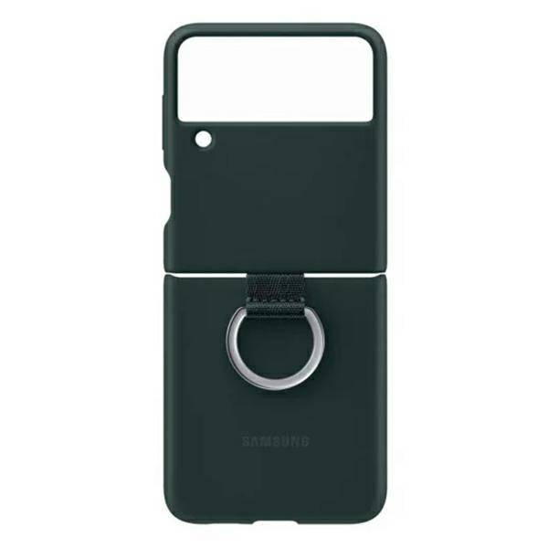 Etui Samsung Silicone Cover With Ring Zielony do Galaxy Z Flip3 5G (EF-PF711TGEGWW)