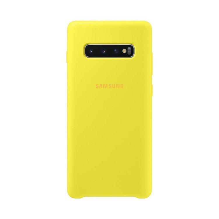 Etui Samsung Silicone Cover Żółty do Galaxy S10+ (EF-PG975TYEGWW)