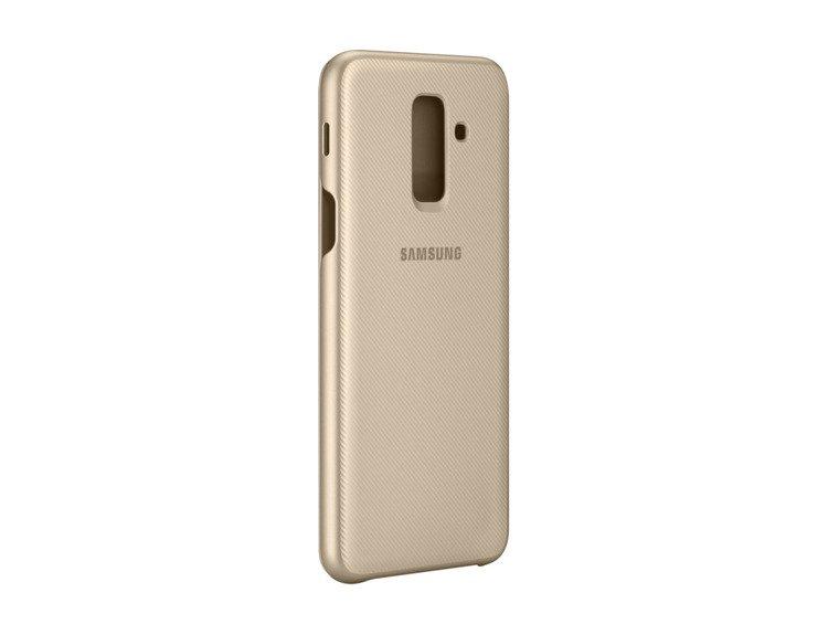 Etui Samsung Wallet Cover Złote do Galaxy A6+ (EF-WA605CFEGWW)