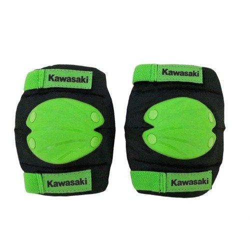 Kawasaki komplet ochraniaczy na łokcie i kolana czarno-zielone rozmiar S