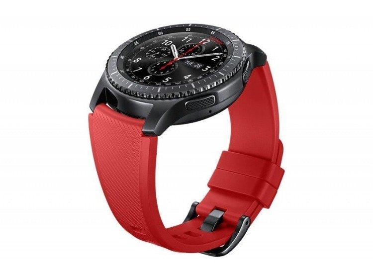 Pasek Active Silicon do Gear S3 Czerwony (ET-YSU76MREGWW)
