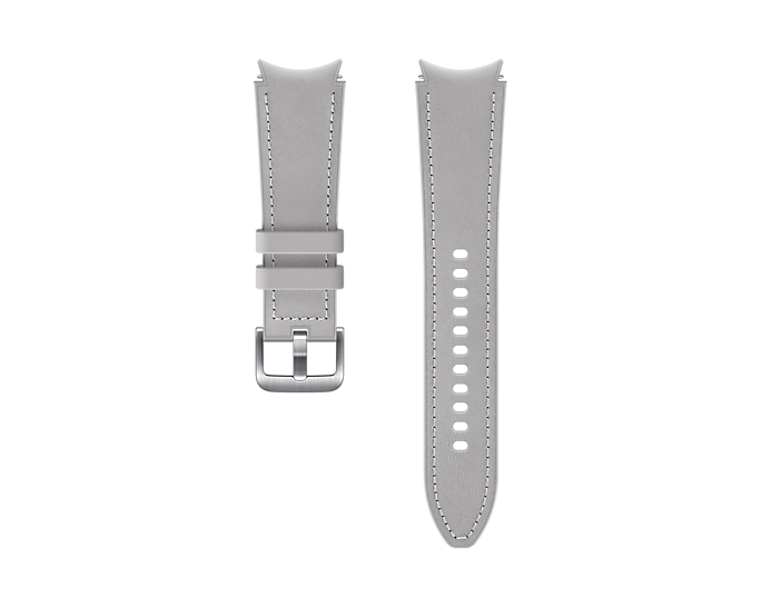 Pasek Samsung Hybrid Leather 20mm M/L Srebrny (ET-SHR89LSEGEU)