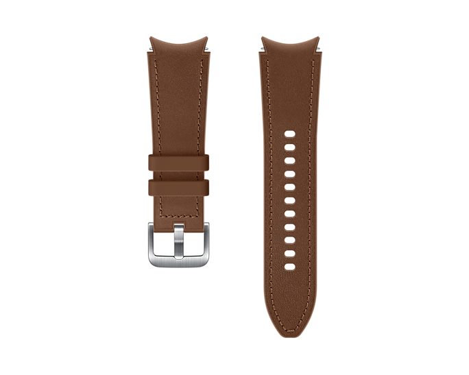 Pasek Samsung Hybrid Leather 20mm S/M Brązowy (ET-SHR88SAEGEU)
