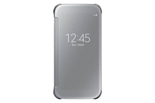 Samsung Etui Clear View Cover Srebrne do Galaxy S6 EF-ZG920BSEGWW