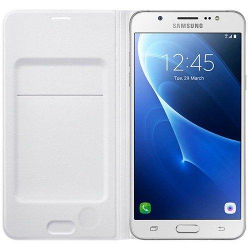 Samsung Etui Flip Wallet Białe do Galaxy J7 (2016) | EF-WJ710PWEGWW