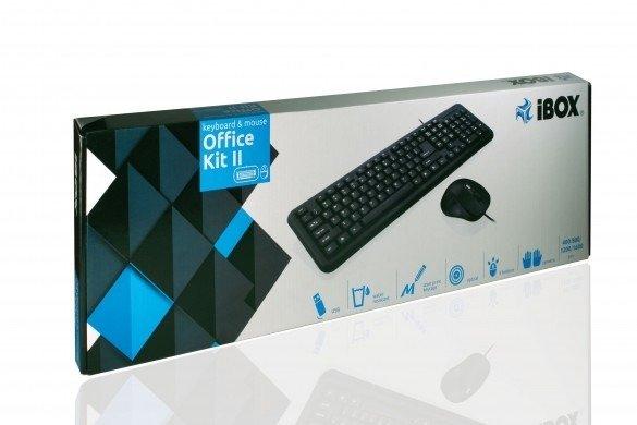 iBOX Office Kit 2 - Zestaw przewodowy klawiatura i mysz